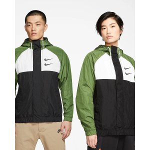 Nike双勾夹克情侣外套 绿色