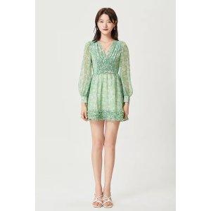 Ecru Emissaryget $25 back with $288Sylphide   Elio Floral Wave Dress