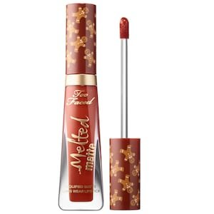 Melted Gingerbread Man Liquified Long Wear Matte Lipstick - Too Faced | Sephora
