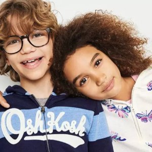 今年史低价+包邮 卫衣低至$6.72折扣升级:OshKosh BGosh 儿童实用卫衣卫裤一律4折+满$40额外$8折