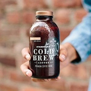 $12.85Starbucks Cold Brew Coffee Black Unsweetened 11 oz Glass Bottles, 6 Count