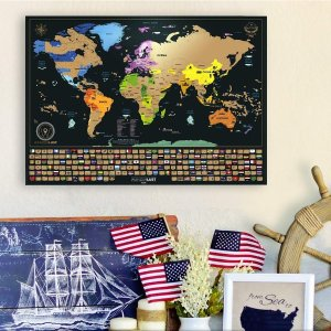 W WANDERLUST MAPS Scratch Off Map of the World