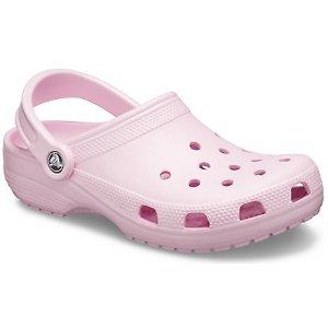 Crocsbaby粉洞洞鞋
