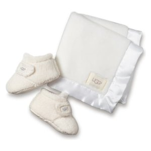 UGG®Bixbee Booties & Lovey Blanket Set