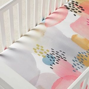 west elmOrganic Lexi Crib Fitted Sheet - Pink
