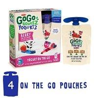 GoGo SqueeZ 酸奶 莓子口味 4袋装