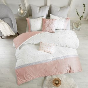 Myla 7 Piece Cotton Jacquard Duvet Cover Set By Urban Habitat - Designer Living
