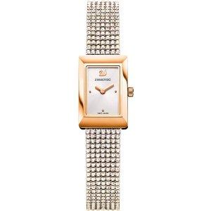 Swarovski玫瑰金手表