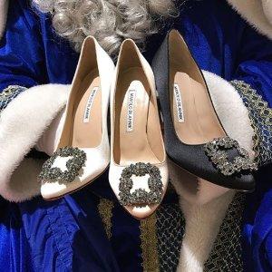 最高享8.8折 仙女必备MANOLO BLAHNIK 超美钻扣鞋热卖