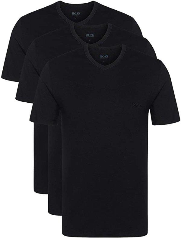 黑色T恤3件装