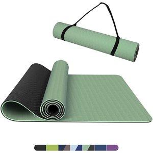 抹茶绿瑜伽垫