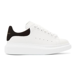 Alexander McQueen美国定价$490女士小白鞋