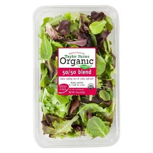 Taylor Farms Organic 50/50 Blend Baby Spring Mix & Baby Spinach - 16oz Package : Target