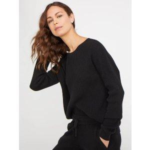 Long Sleeve Crew Neck Cashmere Loungewear