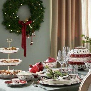 低至6.7折 €17就收盘子Villeroy & Boch 圣诞系列 全套餐具 圣诞挂饰 氛围拉满