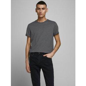 JackJones深灰色圆领T恤