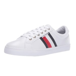 现价$30.74(原价$59)Tommy Hilfiger 女款彩条小白鞋热卖
