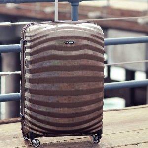$325收高端水波纹箱独家:新秀丽高端超轻黑标系列行李箱大促