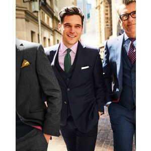 Charles TyrwhittNavy slim fit twill business suit
