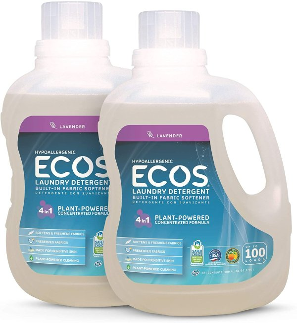 2倍洁净天然温和配方洗衣液 2瓶