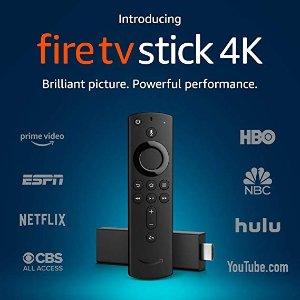 半价优惠 仅限选定用户Fire TV Stick 4K 电视棒 + Alexa 语音遥控器
