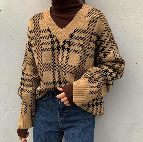 格纹毛衣 2色选