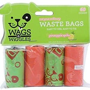 白菜价:Wags & Wiggles 大号狗狗捡屎垃圾袋 60个