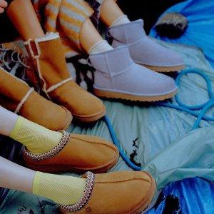 正价8折 €66收毛毛拖鞋UGG 温暖专场热卖 收软fufu泰迪外套、厚底雪地靴等