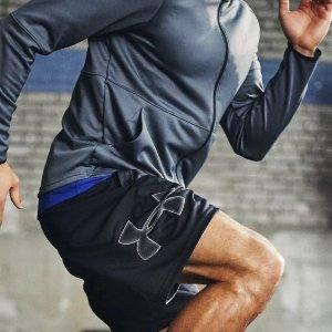 低至6折 封面短裤$19.99Under Armour官网 特价区男子运动服饰、鞋履、背包等促销