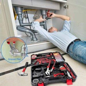 $41.99(原价$69.99)史低价:Arrinew 家庭实用工具108件 日常维护不求人