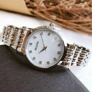 $47.49 (原价$275)史低价:Bulova 珍珠母贝镶钻时装女表