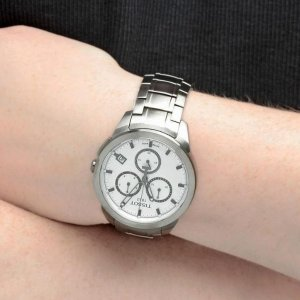 Last Day: $189TISSOT Chronograph Silver Dial Titanium Men's Watch T069.417.44.031.00
