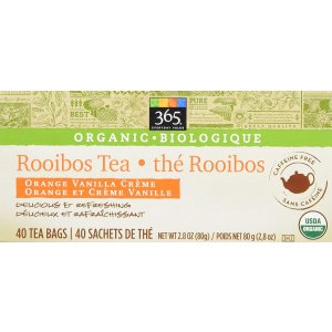 $4.74 独一无二的Rooibos Tea365 Everyday Value有机如意茶40小包 Whole Foods自有品牌