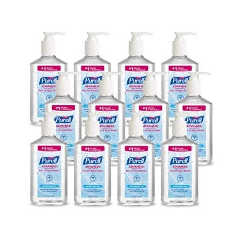 $69.2 + Free ShippingPURELL Advanced Hand Sanitizer 12 fl oz Sanitizer Table Top Pump Bottle (Case of 12)