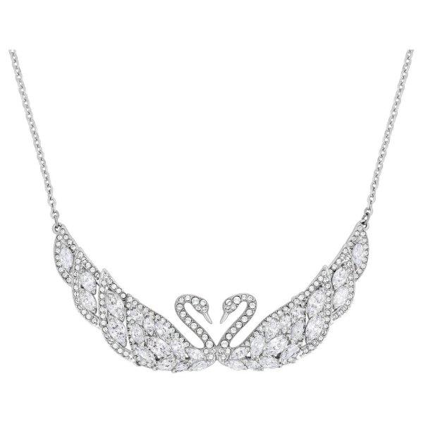 天鹅水晶项链