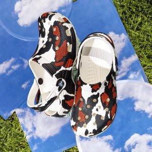 Crocs8折,剩36-38,3色可选动物纹印花洞洞鞋