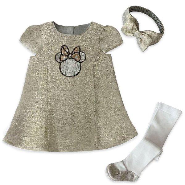金属色 婴儿连身裙套装