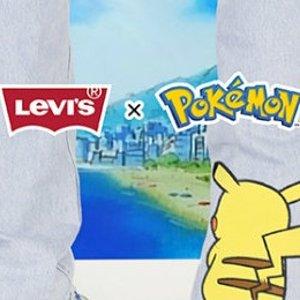 第2件5折 精灵球斜挎包仅$20新品上市:Levi's x 宝可梦联名系列 抢先国内一步!