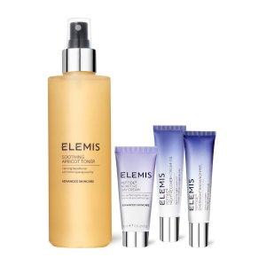 Elemis化妆水+面霜+去角质洁面+护肤精油护肤4件套