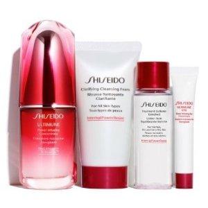 $70(价值$117) 相当于7折收Shiseido 红腰子4件套超值套装上新