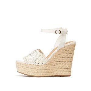 Charlotte Russe编制坡跟鞋