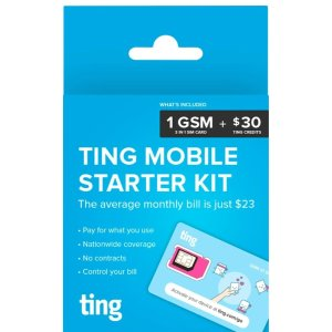 $0.99Ting GSM Sim Card Kit with $30 Service Credit