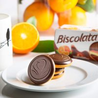 Biscolata 松软巧克力饼干 香橙果酱夹心 4盒装