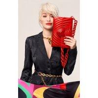 ESCADA x Rita Ora合作款 爱心链条包