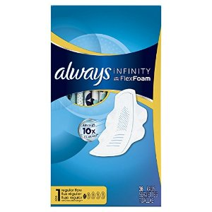 $16.47Always Infinity Feminine Pads with Wings, Super Absorbency