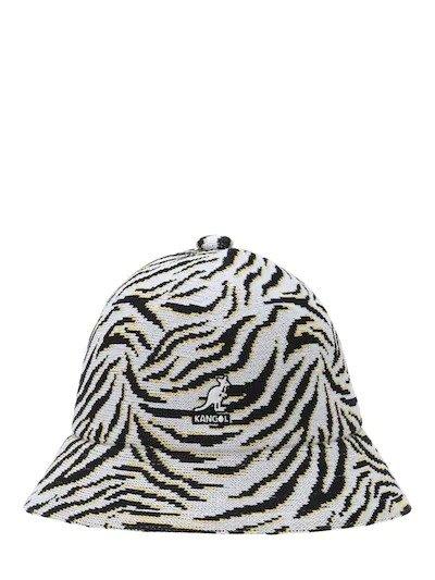 黑白纹渔夫帽