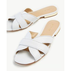 Ann TaylorVirginia Leather Flat Sandals   Ann Taylor