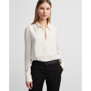 TheoryYoke Popover Shirt in Silk