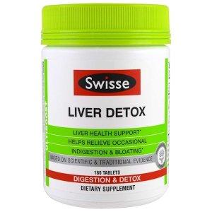 Swisse Liver Detox, Digestion & Detox, 180 Tablets