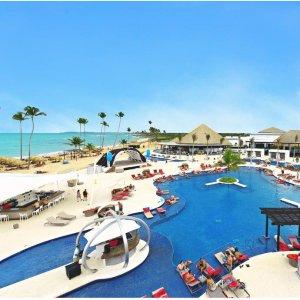 $207起 含豪华房+所有餐饮+娱乐多米尼加蓬塔卡那5星级 CHIC 全包度假村 仅限成人